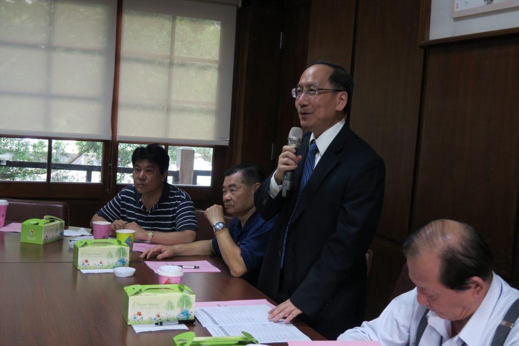 東海大學王茂駿校長歡迎理監事們的蒞臨